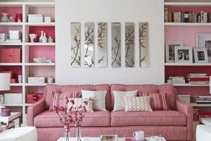 Σπίτι σε ροζ τόνους