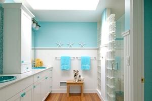 Θαλασσινή διακόσμηση στο μπάνιο