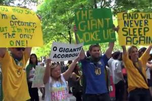 Κοινή διαδήλωση Ελλήνων, Τούρκων και Βραζιλιάνων στη Νέα Υόρκη