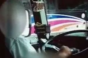 Οδηγός λεωφορείου αυνανίζεται στο τιμόνι