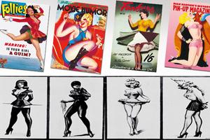 H εικονογραφική ιστορία των pin-up girls