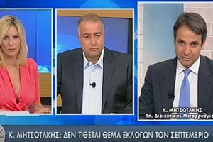 «Δεν υπάρχει κανένα ζήτημα εκλογών τον Οκτώβριο»