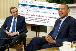 Πώς είδαν οι Γερμανοί τη συνάντηση Ομπάμα-Σαμαρά