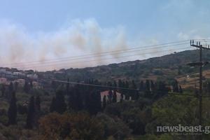 Εκκενώθηκε λόγω πυρκαγιάς χωριό στην Άνδρο