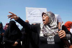 Διαδήλωση υπέρ του Μουάμαρ Καντάφι στη Βεγγάζη