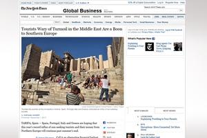 «Σημαντική η άνοδος του ελληνικού τουρισμού»