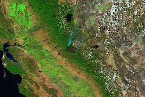 Ορατή από το διάστημα η φωτιά στην Καλιφόρνια
