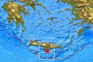 Σεισμική δόνηση νότια του Τυμπακίου