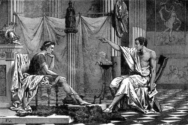 Αποτέλεσμα εικόνας για αριστοτελης και αλεξανδρος