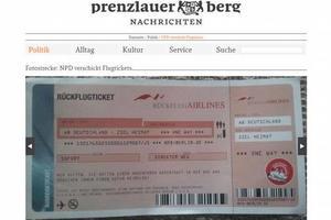 Ακροδεξιοί έστειλαν σε πολιτικούς αεροπορικά εισιτήρια... χωρίς επιστροφή