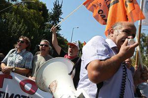Συλλαλητήριο ενάντια σε διαθεσιμότητες-απολύσεις
