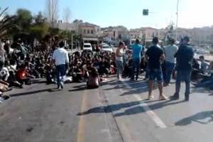 Στους δρόμους οι μαθητές της Μυτιλήνης