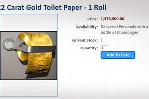 Χρυσός 22 καρατίων για τα οπίσθιά σας και μόνο!