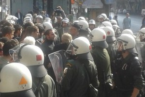Ένταση στη μαθητική παρέλαση της Θεσσαλονίκης