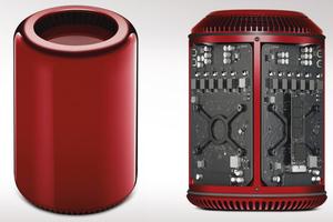 Συλλεκτικό Mac Pro σε κόκκινο χρώμα