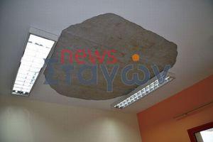 Έπεσε κομμάτι οροφής σχολείου στην Καλαμπάκα