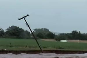 Η πλημμύρα κατέστρεψε το νεκροταφείο της Ρόδου
