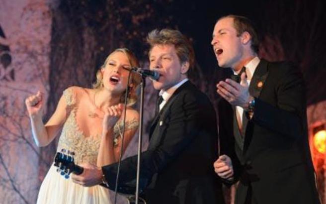 Πρίγκιπας Γουίλιαμ, Taylor Swift και Bon Jovi τραγούδησαν μαζί