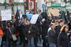 Συγκέντρωση διαμαρτυρίας γιατρών του ΕΟΠΥΥ και συνταξιούχων ΙΚΑ-ΟΑΕΕ