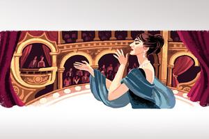 Η Google τιμά τα 90ά γενέθλια της Μαρίας Κάλλας