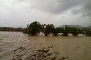 «Πνίγηκαν» από τη βροχή στα ορεινά της Καλαμπάκας