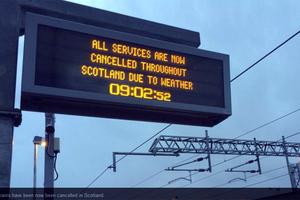 Χωρίς ρεύμα και τρένα η Σκωτία