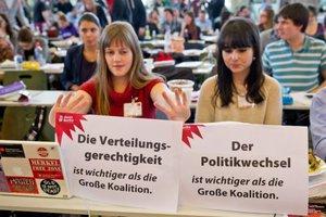 Κατά της συμμετοχής στον κυβερνητικό συνασπισμό η νεολαία του SPD