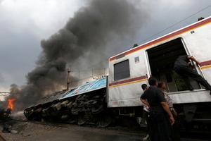 Επτά νεκροί από σύγκρουση τραίνου με φορτηγό στην Ινδονησία