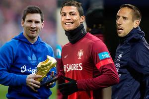 Ρονάλντο, Μέσι και Ριμπερί θα διεκδικήσουν τη Χρυσή Μπάλα