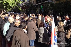 Σε εξέλιξη η συγκέντρωση διαμαρτυρίας στο υπουργείο Υγείας