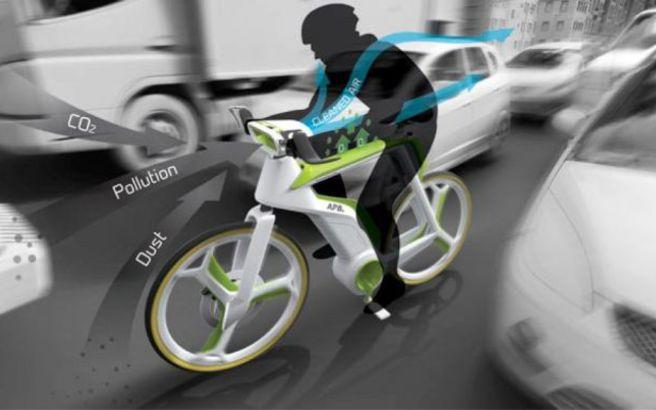 Το ποδήλατο που… καθαρίζει τον αέρα