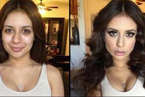 Πορνοστάρ πριν και μετά το μακιγιάζ