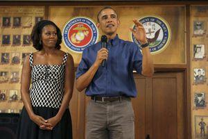 Ομπάμα και Μισέλ μαζί στην τελευταία συγκέντρωση της Χίλαρι