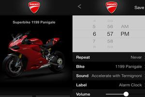 Ξυπνητήρι με ήχο από δικύλινδρο Ducati