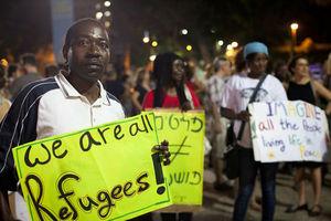 Διαδήλωση αφρικανών μεταναστών στο Τελ Αβίβ