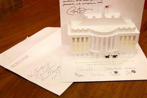 Η καρτ-ποστάλ του Ομπάμα στον πρωθυπουργό της Αλβανίας