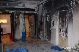 Φωτογραφίες από την επίθεση στο γραφείο του Γιάννη Μιχελάκη