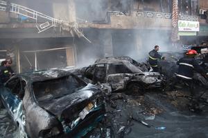 Εικόνες από το σημείο της έκρηξης στη Βηρυτό