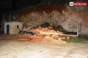 Εκκενώθηκε οικισμός στην Κεφαλονιά, λόγω πτώσης βράχων