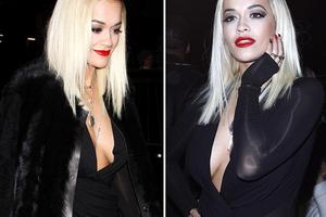 Ντυμένη στα μαύρα και σέξι η Rita Ora