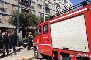 Έσβησε η φωτιά σε πολυκατοικία στο Περιστέρι