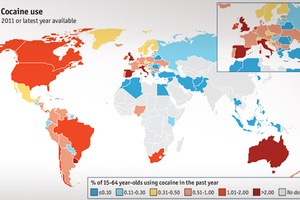 Ο παγκόσμιος χάρτης χρήσης... κοκαΐνης