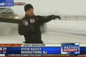 Ο ρεπόρτερ που γύρισε απ' το... χιόνι