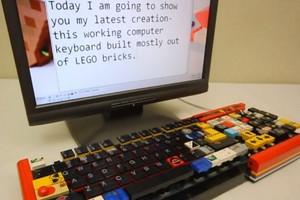 Πληκτρολόγιο «χτισμένο» από Lego