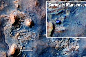 Δορυφόρος φωτογραφίζει το Curiosity στον Άρη