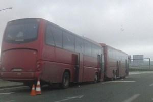 Καραμπόλα λεωφορείων με οπαδούς του ΠΑΟΚ