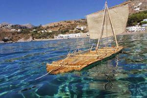 Από τα Κύθηρα στην Κρήτη με σχεδία από καλάμια