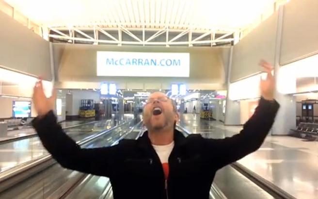 Έκανε σόου στο αεροδρόμιο