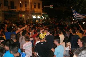 Έξαλλοι πανηγυρισμοί για την Εθνική στην Κρήτη