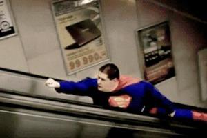 O Superman στο μετρό